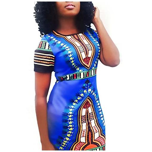 Knight Horse Women Traditional African Print Dashiki Bodycon Plus ...