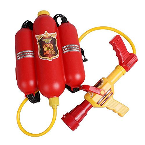 MLSH Firefighter Backpack Water Gun Pressure Water Gun Children's Toys Summer Beach Water Cannons for kids gifts