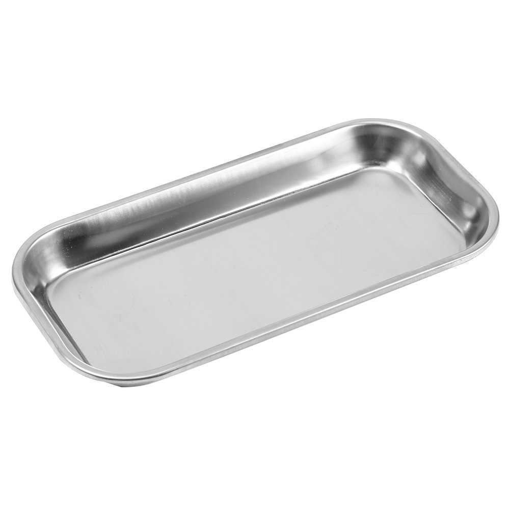 Medical Stainless Steel Instrument Tray Lab Instrument Dental Tool 8.85 x 4.52 x 0.78''
