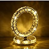 table lamp Table lamp bedroom bedside creative LED round wedding room warm warm light bedside lamp crystal lamp A+