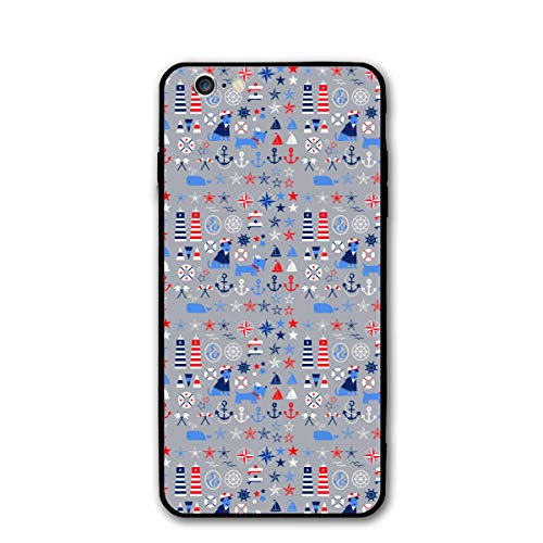 Nautical Clipart - iPhone 6 Case/iPhone 6s Case Anchor Nautical Clipart Scratch-Resistant TPU Silicone Rubber Cover