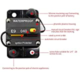 40 amp Circuit Breaker for Trolling Motor Motorhome Trailer Camper Truck Motorhome Boat Solar Project Power Battery Bank Inverter Breaker 12V - 72V with Manual Reset Trip Button