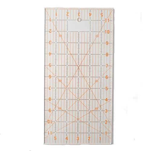 6 X 12 Ruler - DAFA Transparent Quilting Ruler 6 x 12 Inch