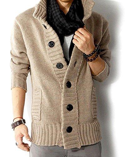 Minetom Hombres Otoño Invierno Tejer Suéter Slim Fit Sweatshirt Casual Cárdigan Outerwear: Amazon.es: Ropa y accesorios