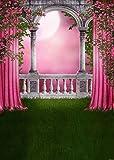 GladsBuy Pink Rose 5' x 7' Digital Printed Photography Backdrop KA Series Background KA184