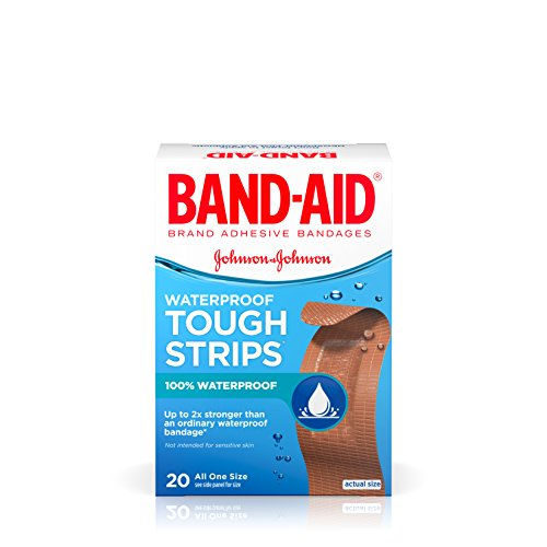 BAND-AID Waterproof Tough-Strips Bandages 20 ea (Pack of 2)