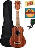 Kala KA-15S Mahogany Soprano Ukulele Bundle with Gig Bag, Tuner, Austin Bazaar Instructional DVD, and Polishing Cloth