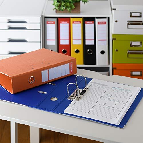 Esselte archivador 70ST rojo, espesor 2-agujero, archivadores, A4 tamaño correspondencia, 75 mm de espesor, aproximadamente 550 piezas de RD4680 ...