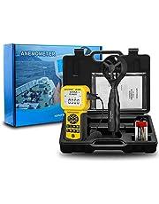 AOPUTTRIVER Anemómetro Digital Pro Anemómetro USB de Mano HVAC Medidor de Velocidad del Viento con Luz de Fondo, Máx/Mín/Avg, Velocidad del Aire, Temperatura, Funciones del Medidor de Flujo de Aire