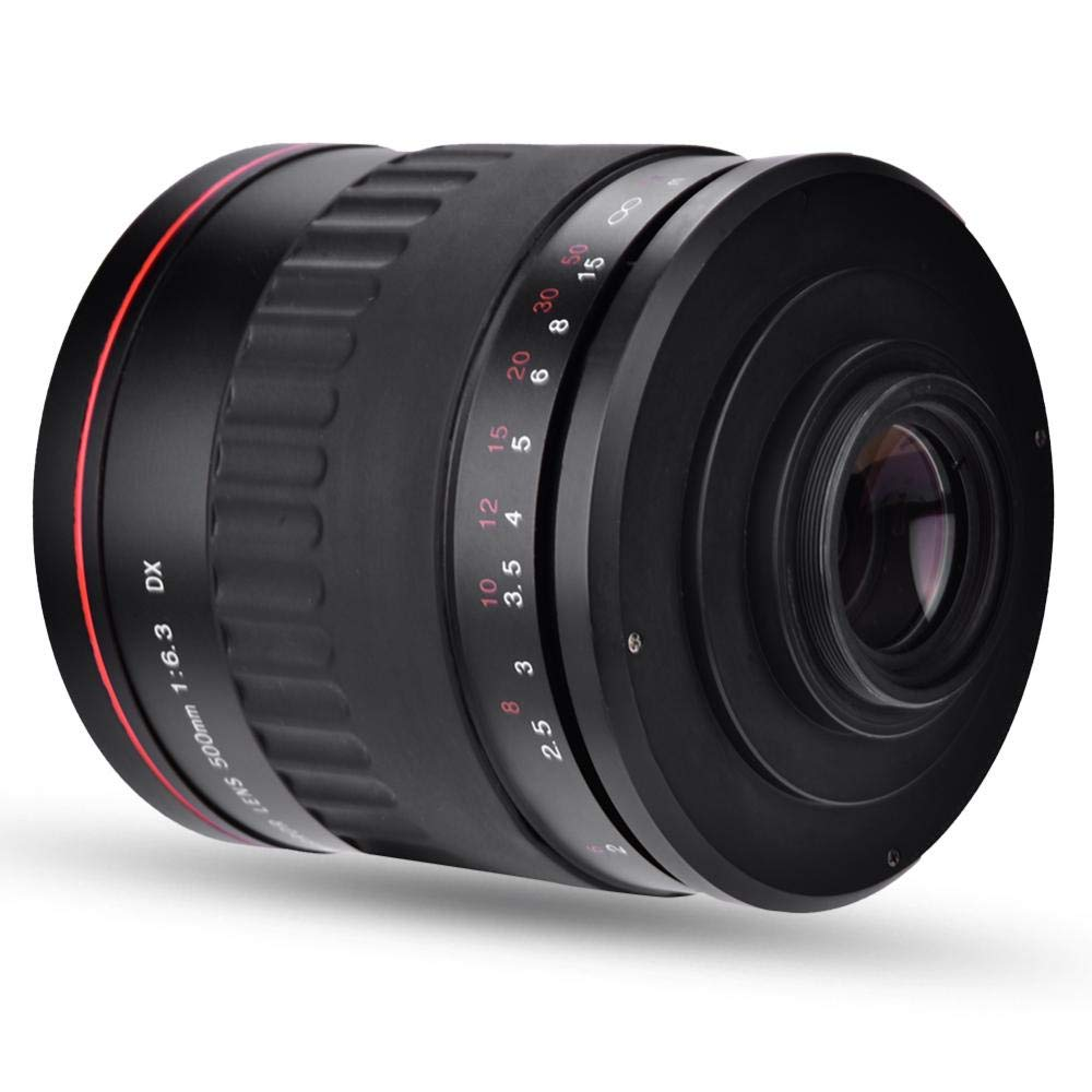 500mm F6.3 DSLR Camera Lens, Lightweight Manual Focus Ultra Telephoto Full Frame Large Aperture Camera Opitical Glass Lens Support 95mm Diametro Filtro by Tangxi