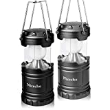 LED Camping Lantern - 2 Pack Collapsible LED Camping Lanterns, Flashlights Emergency Tent Light for Backpacking, Hiking, Fishing - Outdoor Portable Lighting Camping Equipment