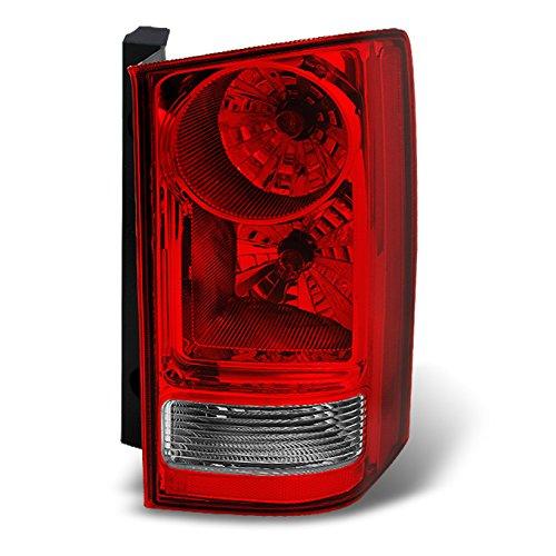 Honda Pilot Red Clear Rear Tail Light Brake Tail Lamp Passenger Right Side Replacement Assembly (Honda Pilot Tail Light)