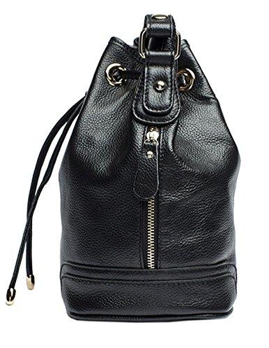 Menschwear Lady Genuine Leather Backpack moda di scuola della spalla dello zaino della Donne Bag Nero Nero El Envío Libre Para La Venta CbcrOou0C