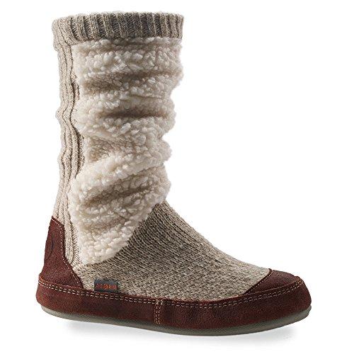 Acorn Women's Slouch Boot Slipper Socks Buff Popcorn L & Oxy Cleaner Bundle