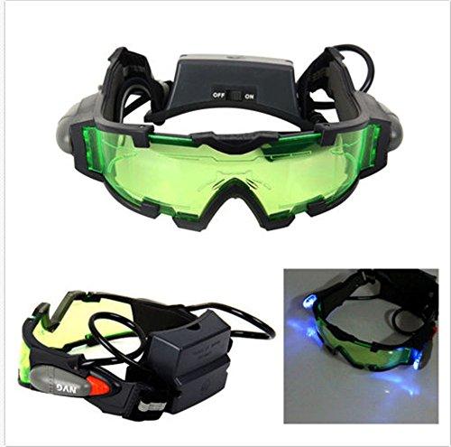 Zoukfox Green Lens Adjustable Elastic Band Night Vision Gogg