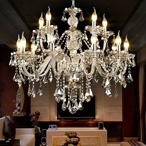 Joypea Crystal Chandelier 10 Lights Fixture Pendant Ceiling Lamp for Hallway Drawing Room Living Room Office Room Decoration H25.6