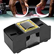 Automatic Playing Card Shuffler, Portable Battery Powered Elderly Electric Card Shuffler for Different Card Ga