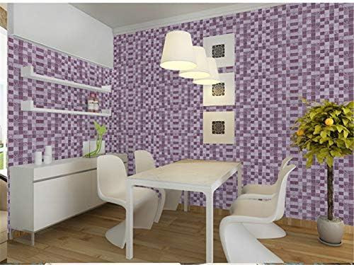 壁紙 0.6x5M、家庭用キッチン石油ステッカー防水ストーブキャビネットの浴室のタイル古い家具改装自己接着壁紙 (Color : Purple, Dimensions : 5m x 60cm)
