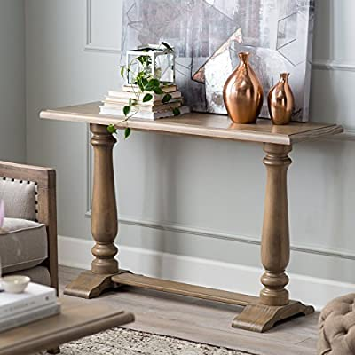 Driftwood Finish Gray Kennedy Console Table