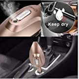 oil ionizer purifier - FERNIDA Car Diffuser Essential Oils,Car Air Purifier Ionizer with Cool Mist Humidifier Air Cleaning 2Port USB Charger 12V/24 Volt,Removes Cigarette Smoke,Food Smell,Pet Smell -Allergy Relief