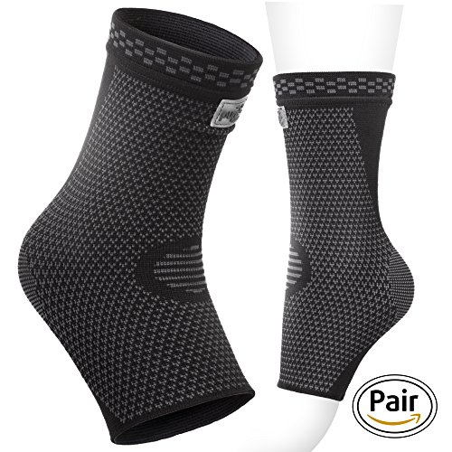 Ankle Brace Support Compression Sleeve Foot Support for Plantar Fasciitis | Achilles Tendonitis | Arch Heel Spurs-Pair Socks for Womens | Men | Kids |Best for -