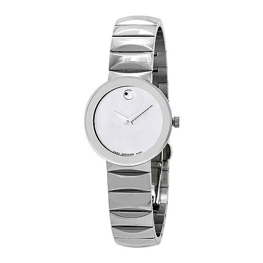Movado Sapphire Reloj de Mujer Cuarzo Suizo 26mm Correa de Acero 607213: Amazon.es: Relojes