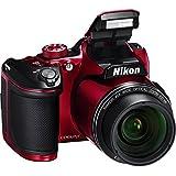 Nikon COOLPIX B500 Digital Camera (Red) International Model No Warranty