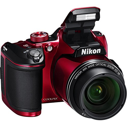 Nikon COOLPIX B500 Digital Camera (Red) International Model No Warranty Review