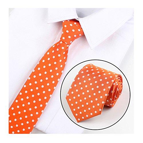 Men's Orange Polka Dot Graduation Silk Meeting Ties