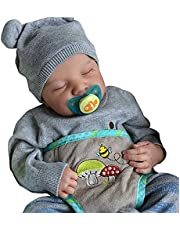 Reborn Baby Dolls 12Inch Silicone Full Body Rebirth Doll Realistic Silicone Baby Doll Lifelike Baby Realistic Reborn Newborn Sleeping Dolls with Clothes And Toy Accessories
