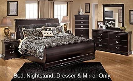 Amazon.com: Esmarelda Queen Bedroom Set with Sleigh Bed ...