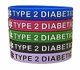 Type 2 Diabetes Bracelets Silicone Medical Alert...