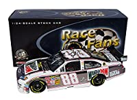 2X AUTOGRAPHED 2008 Dale Earnhardt Jr. & Darrell Waltrip #88 Mountain Dew RETRO THROWBACK (Race Fans Only) GUNMETAL Signed Action 1/24 NASCAR Diecast Car with COA (#0950 of only 2,508 produced!) by Trackside Autographs