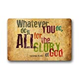 Crystal Emotion Custom Whatever You do,do it All for the Glory of God.1Corinthlans 10 v31b Christian Bible Quotes Doormat