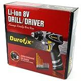 "Durofix 1/4"" Drill/Driver 8V w/charger + Bits"