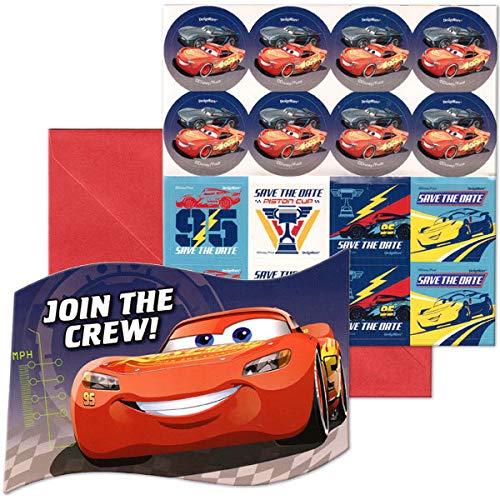 (Disney Pixar Cars Lightning Birthday Party Invitation 16 Count Save The Date)
