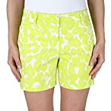 Ladies Stretch Trouser Short (Assorted Colors) (12, Floral)