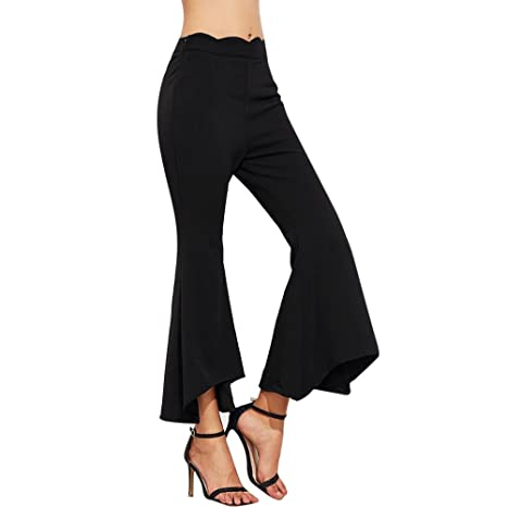 c52d3bc5b2b98e YanHoo-pantaloni Donna Pantaloni in Maglia con Coulisse,Pantaloni Straight  Donna,Pantalone Palazzo