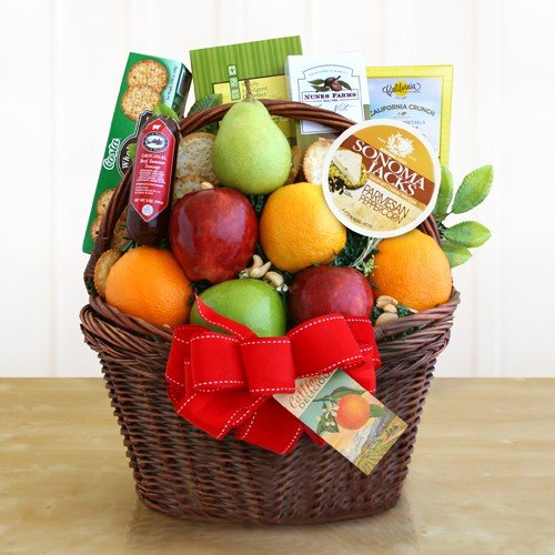 CA Fruitful Greetings Gift Basket Ultimate by Redd Barn