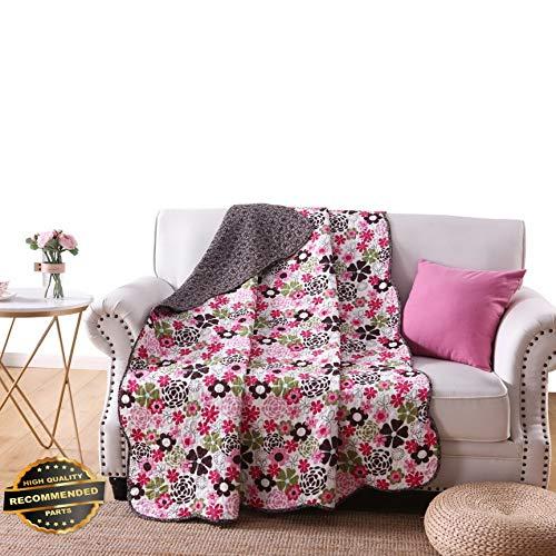 (Werrox 100% Cotton Reversible 60 x 50 Quilt Throw Blanket, Cotton Quilt Blanket | Size | Quilt Style QLTR-291265289)