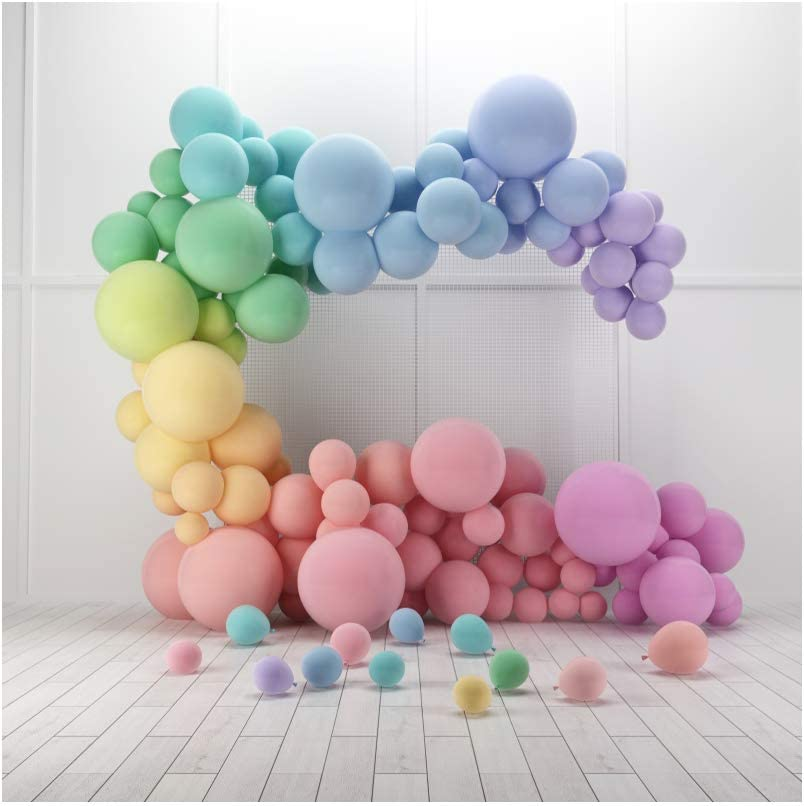 YEELE 9x9ft 3D Balloons Interior Photography Backdropfor Kids Birthday Party Background Modern House Indoor Home Decoration Kids Adult Portrait Photo Studio Props Wallpaper
