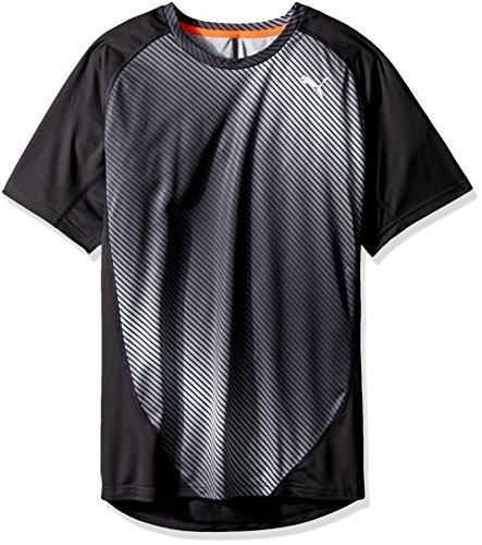 Puma Kører Mænds Grafiske T-shirt (514.352) Puma Sort Aop Grafik DK7c56zfX