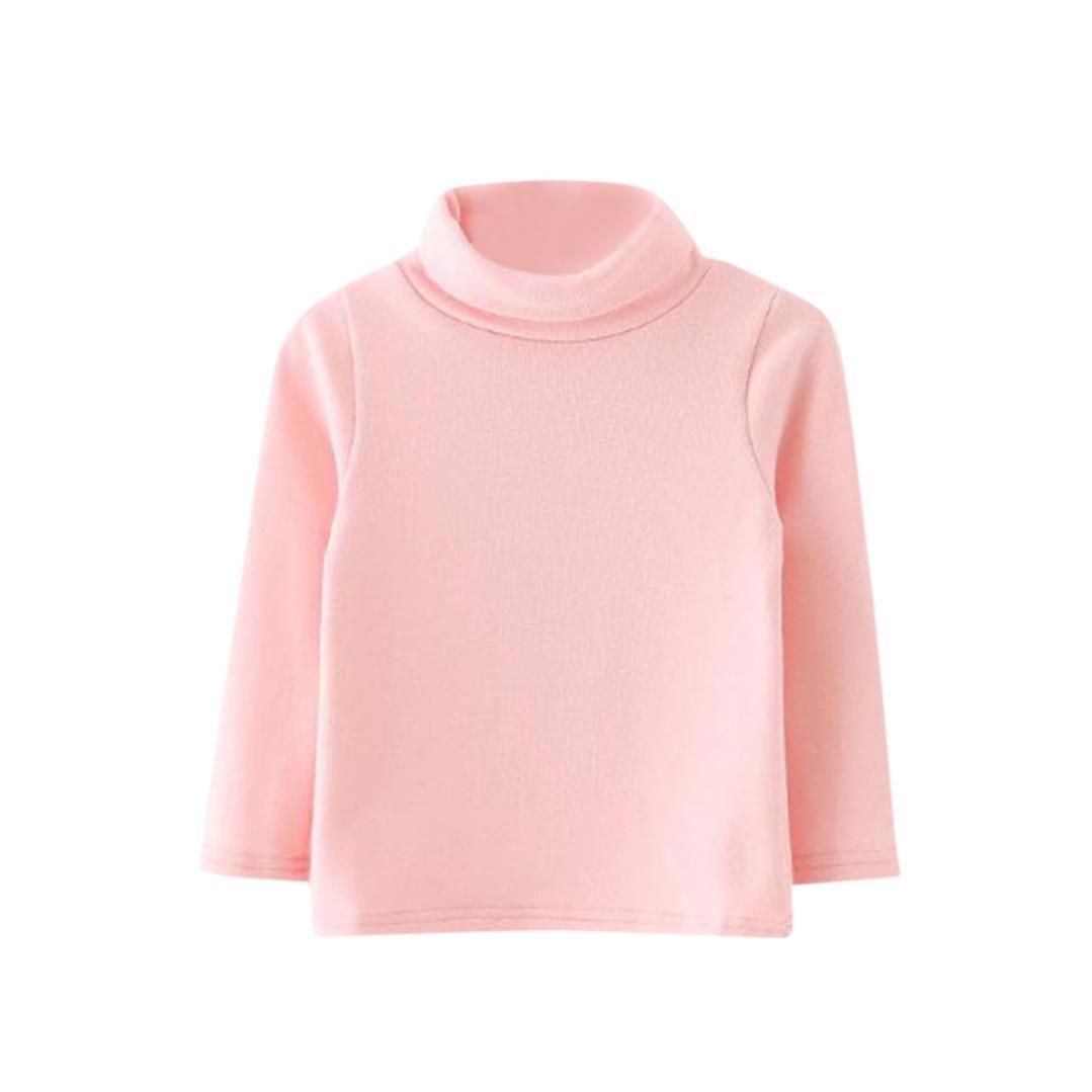 Clode® Cute 0-3 Years Old Children Girls Turtleneck Long Sleeve Soft T-Shirt Tops Blouse Clode-TS-00387