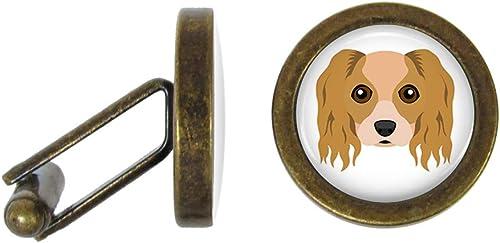 Oakmont Cufflinks Cavalier King Charles Spaniel Cufflinks Dog Cuff Links Angled Edition