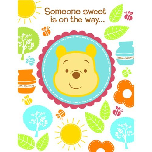 Disney Pooh Little Hunny Bunny Baby Shower Invitations (8 count) Party Accessory (Girl Winnie The Pooh Baby Shower Invitations)