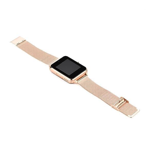QHJ Bluetooth Smart Watch Reloj Inteligente Reloj de pulsera pulsera de fitness Tracker Reloj Deportivo con/cámara/Podómetro/Dormir Tracker/romte Captura ...