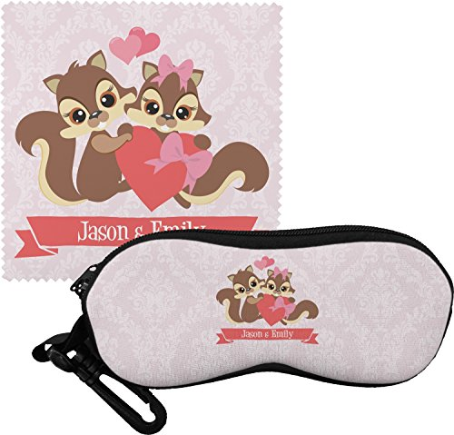 Chipmunk Couple Eyeglass Case & Cloth (Personalized) by RNK Shops