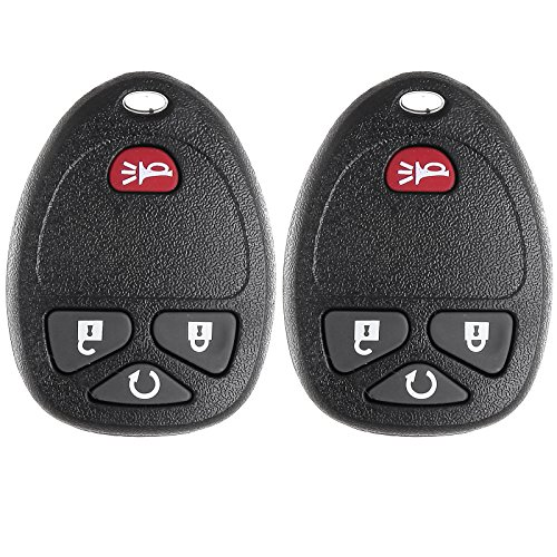 Keyless Entry Kit,ECCPP 2 Remotes New Keyless Entry Replacement Car Key Fob for Select Silverado Suburban Tahoe Sierra Models that use OUC60270 OUC60221 Remote (2007 Remote Starter Tahoe)