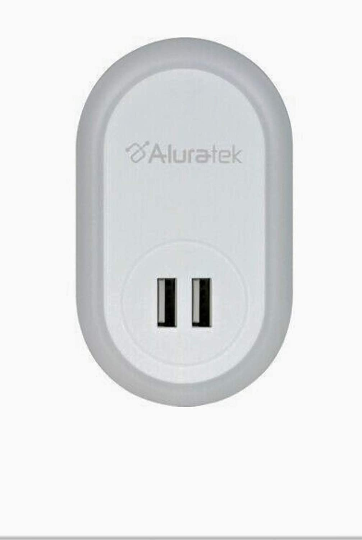 USB LED Night Light w//Dual USB Charging ALURATEK