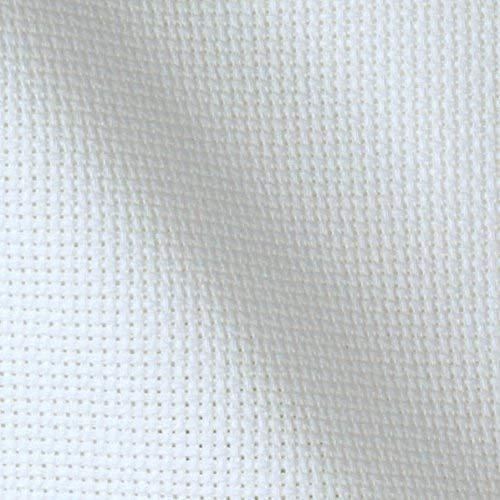 14 Count Aida Cloth – White 60″ Wide By The Yard – Cross Stitch Fabric